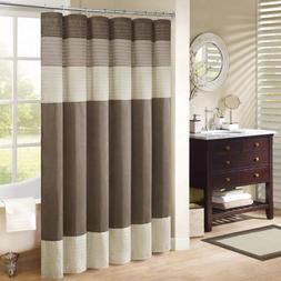 "Madison Park MP70-2132 Amherst Shower Curtain 108x72"" Natura"