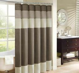 Madison Park Amherst 54-Inch x 78-Inch Shower Curtain in Nat