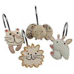 DS BATH Animal Crackers Shower Curtain Hooks, Hooks for Bath