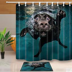 animal decor dog bath mildew