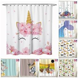 Sunlitlight Animal Dog Cat Fabric Shower Curtain Bathroom Fo
