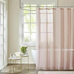 Madison Park Anna Sheer Pink Shower Curtain, Casual Shower C