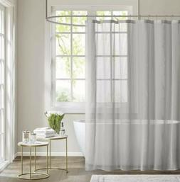 Madison Park Anna Sheer Shower Curtain Grey 72x72