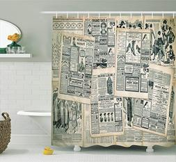 Ambesonne Antique Decor Collection, Vintage Styled Layered S