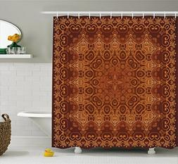 Ambesonne Antique Decor Vintage Shower Curtain, Lacy Persian