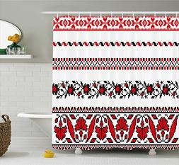 Ambesonne Antique Shower Curtain by, Traditional Ukrainian B