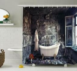 Ambesonne Antique Shower Curtain, Bathtub in Old Room Bathro