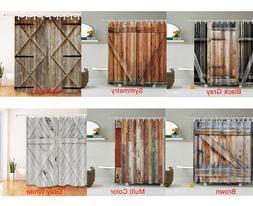 Antique Wooden Shower Curtain Bathroom Decoration Wood Patte