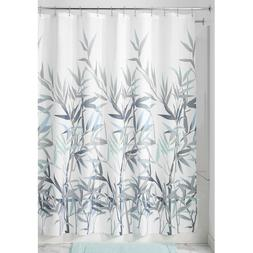 InterDesign Anzu Fabric Shower Curtain  Leafy Bamboo Design