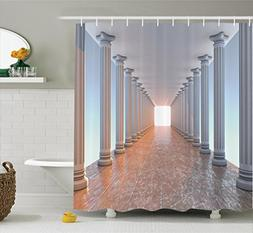 Ambesonne Apartment Decor Collection, Corridor with Columns