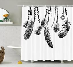 Ambesonne Apartment Decor Shower Curtain Set, Native America