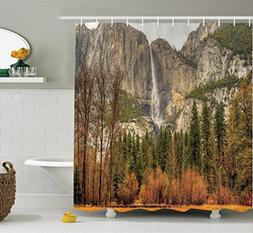 Ambesonne Apartment Decor Shower Curtain Set By, Yosemite Fa