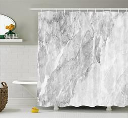 Apartment Decor Shower Curtain by Ambesonne, Retro Marble Pa