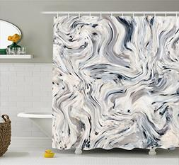 Apartment Decor Shower Curtain by Ambesonne, Japanese Marble