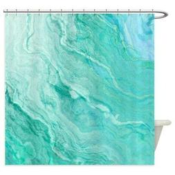 CafePress Aqua Agate Abstract Shower Curtain