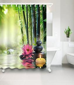 LB Asian Japanese Themed Decor Shower Curtain for Bathroom b
