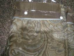 Madison Park Aubrey Jacquard Shower Curtain Blue, Beige & Br