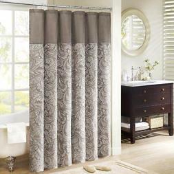 Madison Park Aubrey Jacquard Shower Curtain Blue