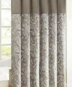 Madison Park Aubrey Paisley Jacquard Shower Curtain 72W X 96