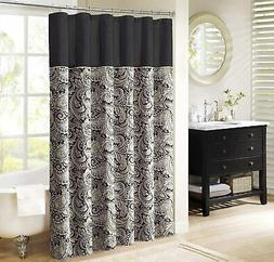 Madison Park Aubrey Shower Curtain Paisley Jacquard Pieced M