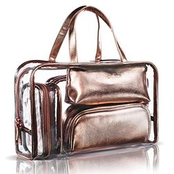 NiceEbag 5 in 1 Cosmetic Bag & Case Portable Carry on Travel