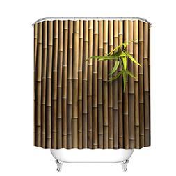 Fangkun Bamboo 3D Printing Bathroom Shower Curtain - Waterpr