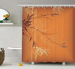 Ambesonne Bamboo House Decor Collection, Bamboo Branches and