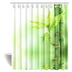 InterestPrint Bamboo House Decor Shower Curtain, Mildew Resi