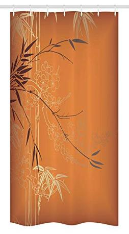 Ambesonne Bamboo Stall Shower Curtain by, Bamboo Branches an