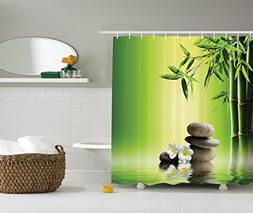 Ambesonne Bamboos Spa Decor Collection, Japanese Therapy and