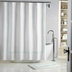 19cceb63568 Wamsutta Baratta Stitch Stall Shower Curtain -White Seaglass