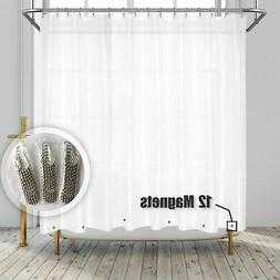 Barossa Design Clawfoot Tub Shower Curtain with 12 Magnets -