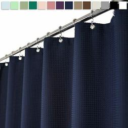 "Barossa Design Extra-Long Waffle Weave Shower Curtain 71"" W"