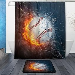 ALAZA Baseball Ball with Water and Fire Waterproof Polyester