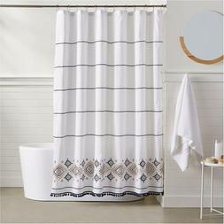 Basics Southwest Embroidered Shower Curtain - 72 Inch