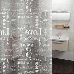 Bath Shower Curtain Liner Clear Non Toxic Mold Resistant Wat