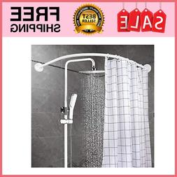 Bathroom Corner Curved Shower Rod Aluminum Alloy Wall Mount