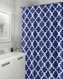Bathroom Top Decor Geometric Pattern Blue Polyester Fabric S