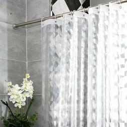 Bathroom EVA Shower Curtain 3D Translucent Thick Waterproof