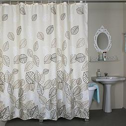 Shower Curtain Extra Wide 96 x 78 inches Set with Rings, Wel
