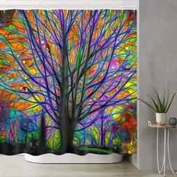 Bathroom Fabric Shower Curtain Waterproof Polyester Colorful