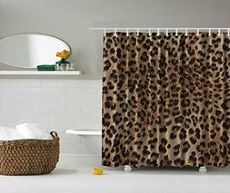 Ambesonne Bathroom Accessories Leopard Print Sexy Shower Cur