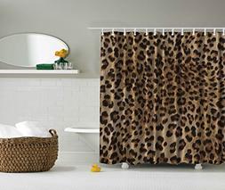 Ambesonne Bathroom Accessories Leopard Print Sexy Shower Cur