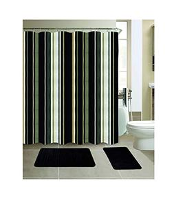 All American Collection New 15 Piece Bathroom Mat Set Memory