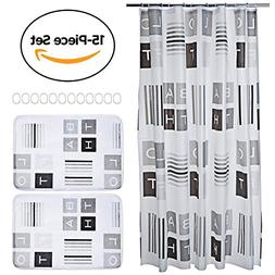 15-piece Bathroom Set. Includes Shower Curtain Liner, Bathro