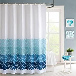 LanMeng Bathroom Shower Curtain Fabric, Waterproof Mildewpro