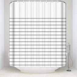 OneHoney Bathroom Shower Curtain Geometric Stripes Waterproo