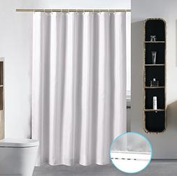 Bathroom Shower Curtain Liner Washable Fabric Mildew Resista