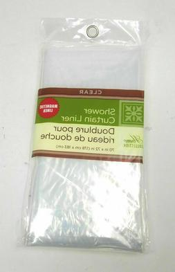 ~ Home Collection Bathroom Shower Curtain PEVA Plastic Liner