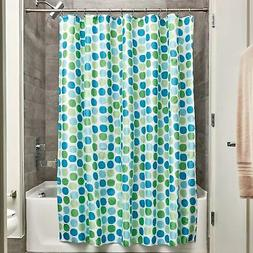Bathroom Shower Polyester Rialto Shower Curtain Blue Green 7